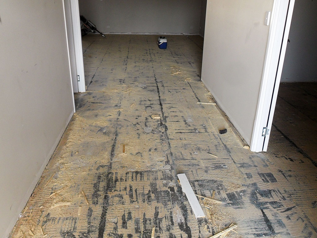 Bamboo floor removal